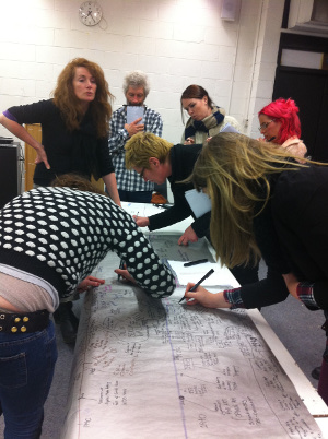 Socially Engaged Arts Practice - Ailbhe Murphy and students.  Photo: Fiona Whelan
