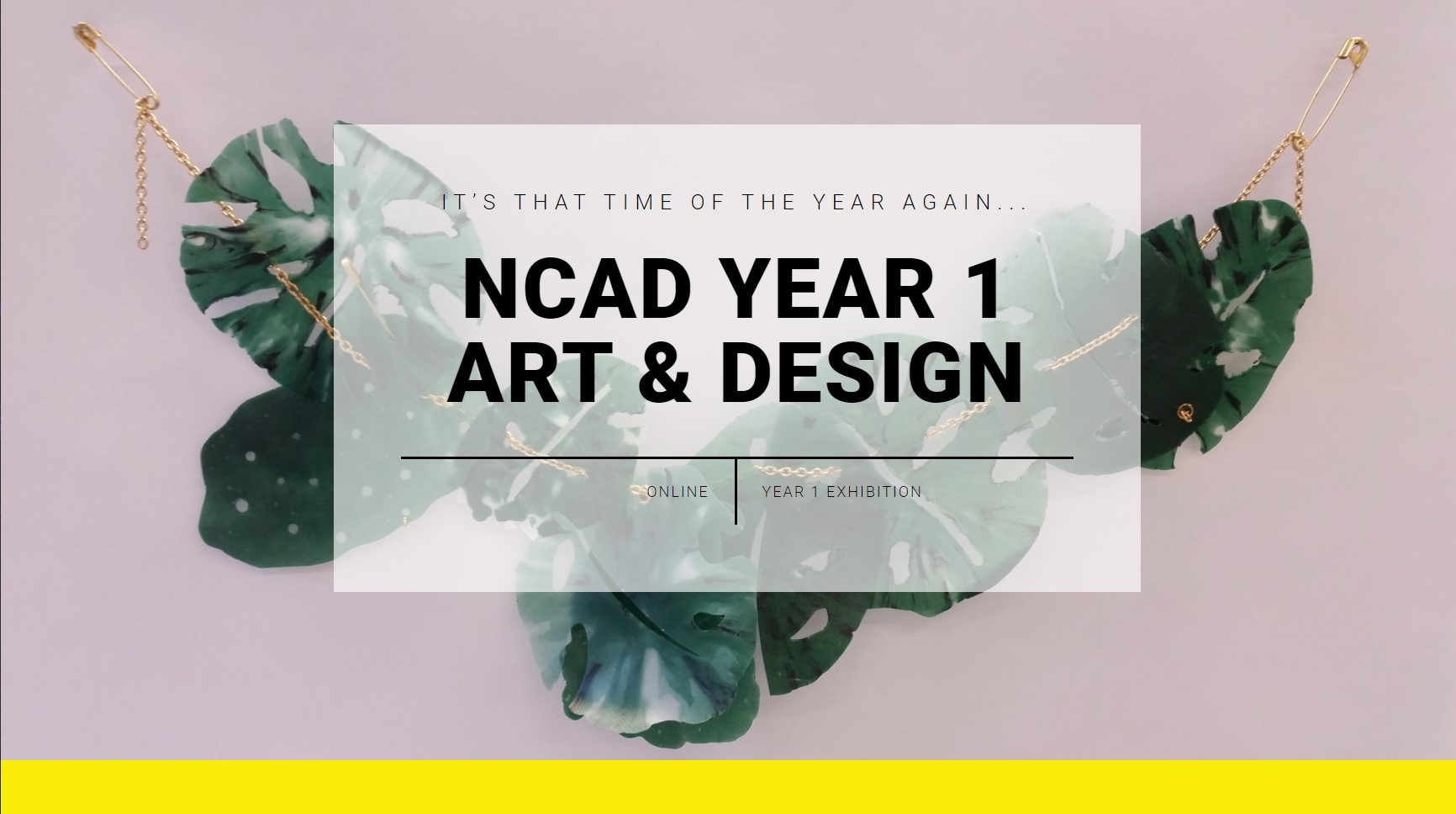 NCAD Year 1 Art & Design Online