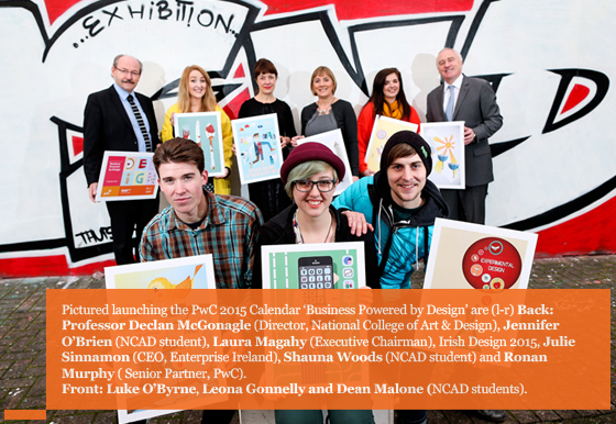 PwC launches its 2015 Calendar with the help of the students of the NCAD