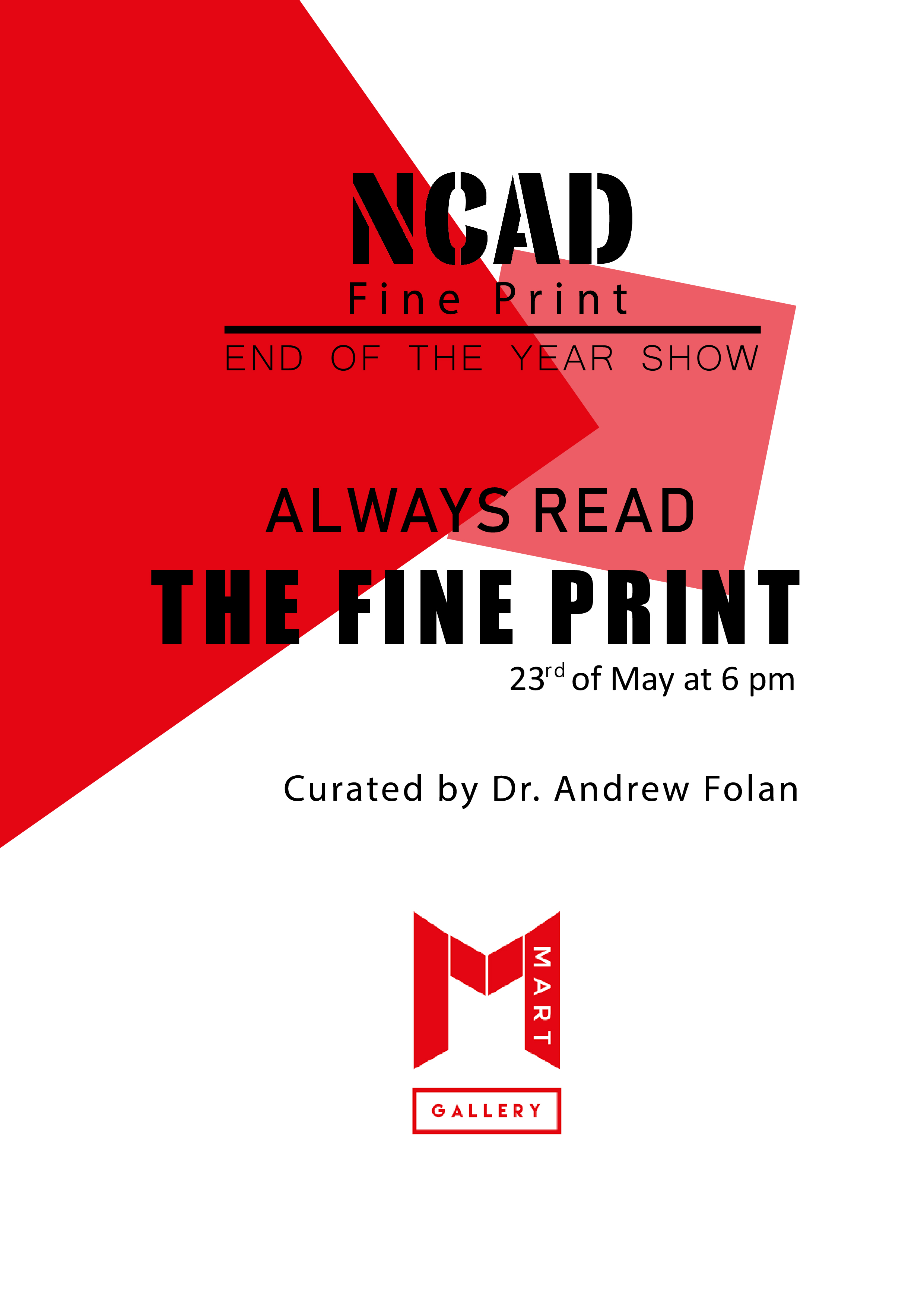 Fine Print 2nd Year Students End of Year Show