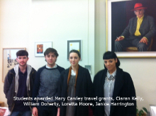 Mary Cawley Travel Bursaries awarded for 2013/14