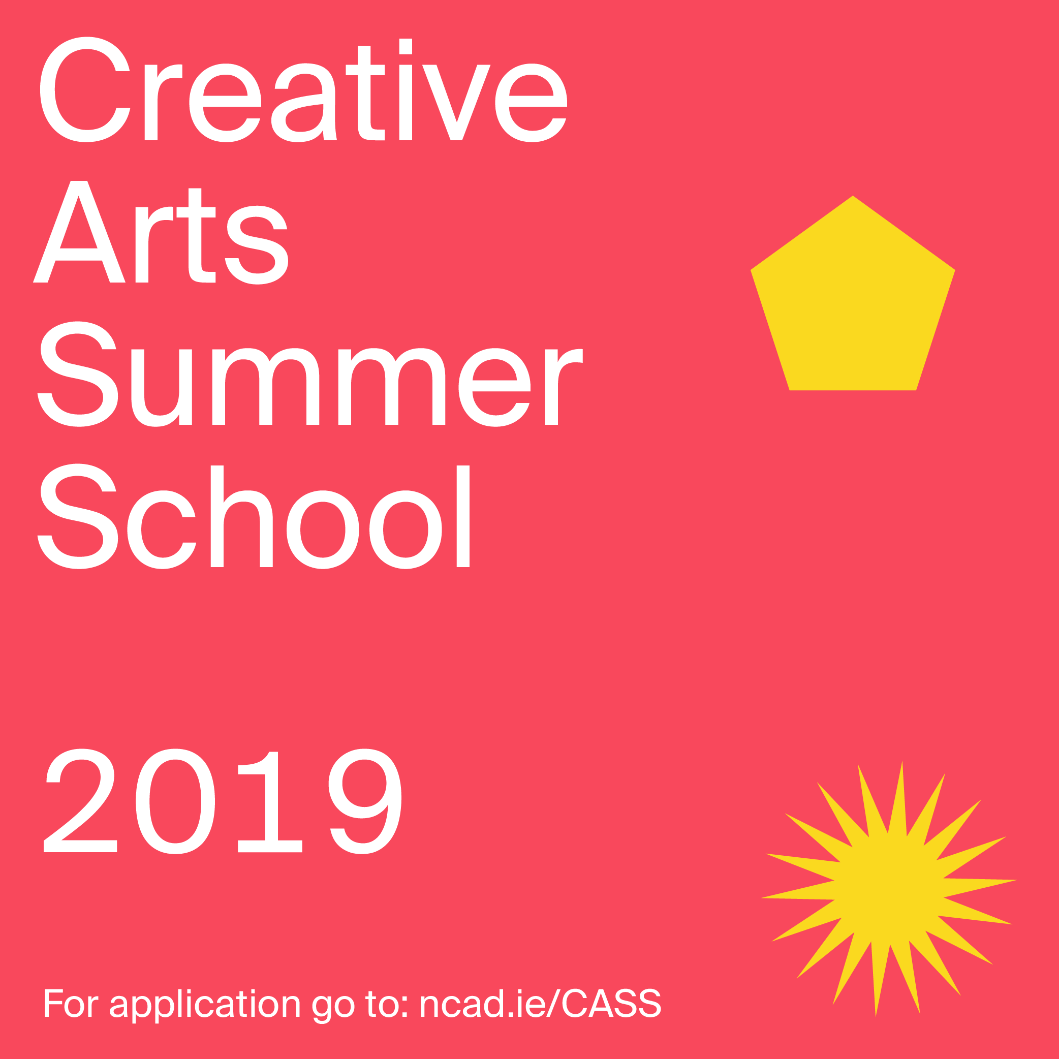 PRESS RELEASE -NCAD announces return of the Creative Arts Summer School